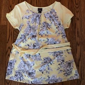 Yellow Floral oh baby by Motherhood Maternity Top